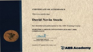 ABS Academy Certificate